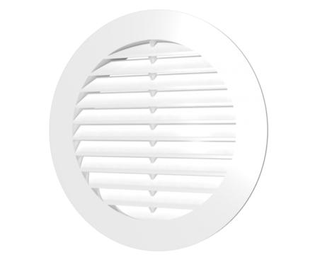 Решётка вентиляционная круглая с сеткой D130 с фланцем D100 Фотография_0