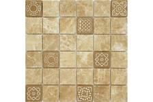 Мозаика Caramelle Mosaic Art Stone Emperador Light матовая, 300х300х8 мм, чип 48х48 мм
