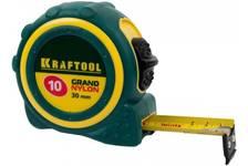 Рулетка 10*30 мм KRAFTOOL GRAND нейлоновое покрытие