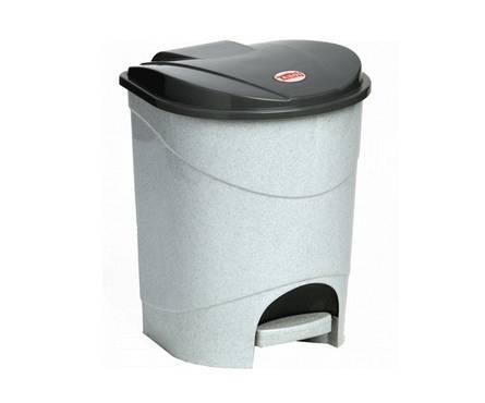 Контейнер для мусора Idea педальный 19л М2892 мрамор Фотография_0