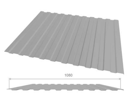 Профлист оцинк С10 (0,45х1080х2000 мм.) (серый) RAL7004 Фотография_0