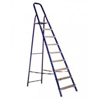 Стремянка стальная 9 ступеней (высота 187см, вес 9,3кг)