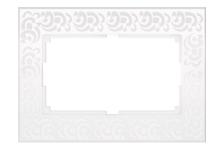 Рамка Werkel Flock для двойной розетки, универсальная, белая