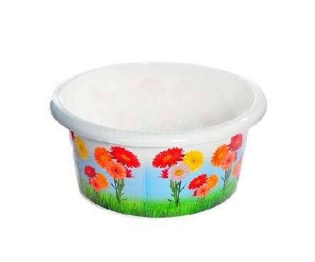 Таз пластмассовый 10л Цветы Турция Фотография_0