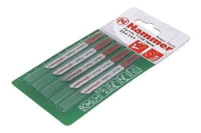 Набор пилок для лобзика Hammer Flex 204-117 JG WD-PL T119B(5pcs)мягк.др\пл,67мм,шаг 1.9-2.3, HCS,5шт