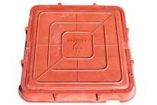 Люк легкий (685х685) (А-30/3тн) квадратный красный