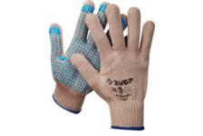 Перчатки ЗУБР ЕНИСЕЙ, акриловые с ПВХ покрытием (точка), размер L-XL
