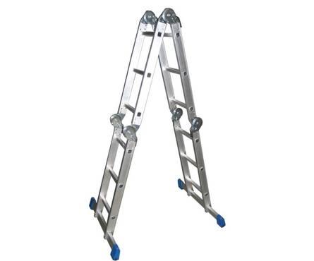 Лестница-трансформер алюминиевая 4*3 ступени СИБИН ЛТ-43 Фотография_0