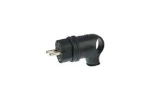 Вилка кабельная Bemis угловая каучуковая с кольцом 220В 16А с з/к, IP44