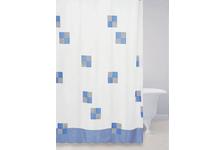 Штора для ванн Bath Plus (Cafe noir) голубой 2103/0-P, 180х180 см