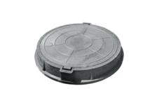 Люк полимерно-песчаный тип Л 750/70 мм (серый) 3т