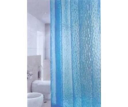 Штора для ванной 3D Blue 180х180 3D-001