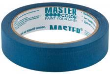 Лента малярная MASTER СOLOR бумажная синяя, термостойкость до 100°C, УФ-стойкость до 14 дней, 24 мм х 25 м