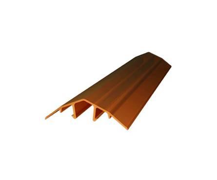 Профиль поликарбонатный  ROYALPLAST HCP-U крышка 4-10 мм, бронза, 6 м Фотография_0
