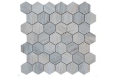 Мозаика Caramelle Mosaic Pietrine Hexagonal Nuvola rosato полированная, 292х298х6 мм, чип 23х40 мм