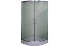 Душевой угол Parly Z91низкий поддон, 900х900х1950 мм, матовое стекло, рисунок