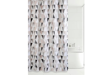 Штора для ванн Bath Plus Triangular Scrawl (серый) ch21260/8, 180х200 см