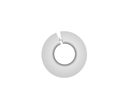 Обвод для труб 1/2 дюйма Белый