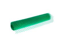 Сетка садовая ромбическая, пластиковая, 1,5х20 м, ячейка 40*40 мм, зеленая