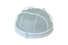Светильник банный Italmac круг с решеткой, 60 ВТ, белый