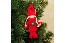 Игрушка-подвеска Куколка в костюме, цвет красный, микс