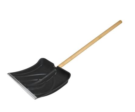 Лопата для снега Usp 385x380 мм, деревянный черенок, диаметр 32 мм Фотография_0
