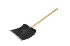 Лопата для снега Usp 385x380 мм, деревянный черенок, диаметр 32 мм