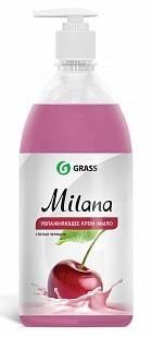 Жидкое крем-мыло с дозатором Milana 1л (спелая черешня)