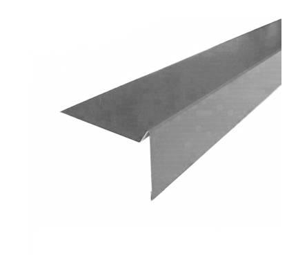 Планка торцевая для г/ч (ТН) ШИНГЛАС Polyester серая RAL7004 (2000x100 мм)