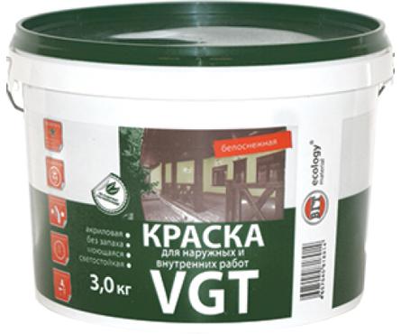 Краска ВД VGT для наружних и внутренних работ 7 кг