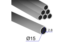 Труба ВГП 15х2,8 мм (6 м)