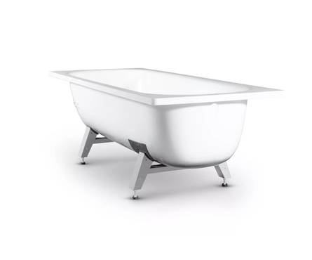 Ванна стальная ТоргЗнакСервис Лагуна 170х70x40 с рантом в комплекте с ножками Фотография_0