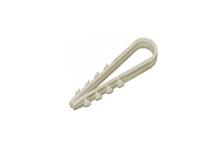 Дюбель-хомут ДХП-12 для плоского кабеля 6-12 мм белый (100 шт.)