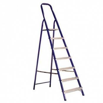 Стремянка стальная 6 ступеней (высота 124см, вес 6,8кг)