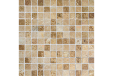 Мозаика Caramelle Mosaic Pietrine Emperador Light полированная, 298х298х4 мм, чип 23х23 мм