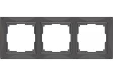 Рамка 3 Поста Универсальная Серо-коричневый Basic Snabb Werkel