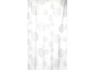 Штора для ванн Bath Plus 21222/8-P (Counter Circle) серебро/белый, 180х180 см