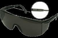 Очки защитные черные, регулируемые дужки ТОРЕХ