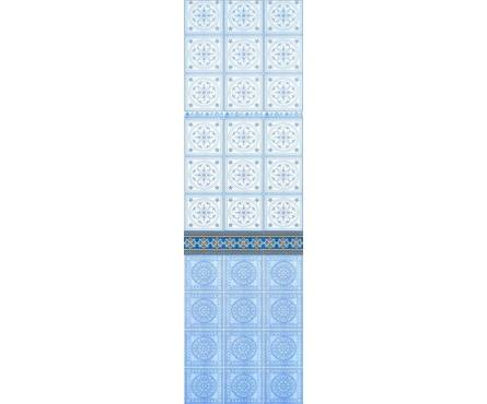 ПВХ Панель Фриз 2700*250*9мм Восточная мозаика синяя