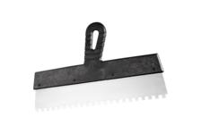 Шпатель СИБРТЕХ зубчатый 250 мм нержавеющая сталь с пластиковой ручкой зуб 10*10 мм