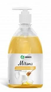 Жидкое крем-мыло с дозатором Milana 0,5л (молоко и мед) GRASS