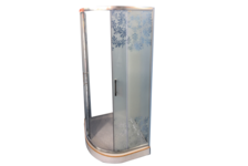 Душевой угол Parly ZE91 900х900х1950 мм, низкий поддон, матовое стекло