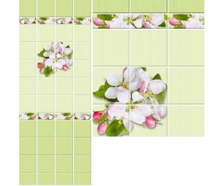 ПВХ Панель UNIQUE 3D 2700*250*8мм Яблоневый цвет зеленый ФОН