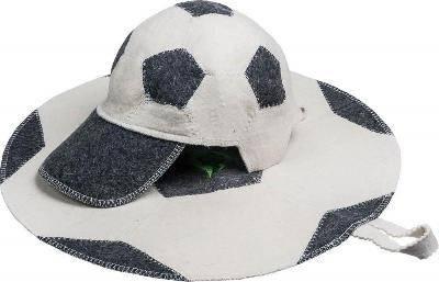 Набор из 2х предметов (Шапка Футбольный мяч, коврик Футбольный мяч) войлок 100%, Банные штучки Фотография_0