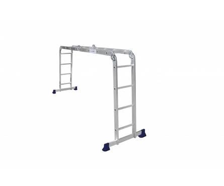 Лестница-трансформер алюминиевая 4*4 ст., серия Стандарт