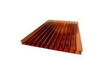 Поликарбонат сотовый Кристалл 6000 / 2100 / 4 мм, коричневый