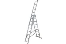 Лестница ВИХРЬ ЛА 3*9 алюминиевая 3-х секционная, 9 ступеней