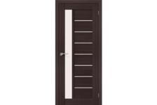 Дверь Bravo ЭКО Порта-27 Wenge Veralinga, 200*80 см, стекло Magic Fog