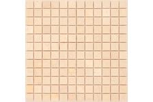 Мозаика Caramelle Mosaic Pietrine Botticino полированная, 298х298х7 мм, чип 23х23 мм