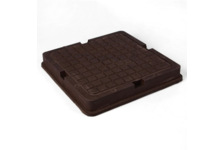 Люк полимерно-песчаный квадрат. тип Л 700х700мм (коричневый) 3т